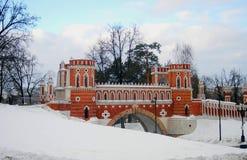 Vista del parco di Tsaritsyno a Mosca Fotografia Stock