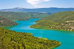Vista del parco nazionale del fiume di Krka immagine stock