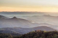 Vista del parco nazionale di Doi Inthanon a Chiang Mai Immagine Stock