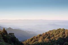 Vista del parco nazionale di Doi Inthanon a Chiang Mai Fotografia Stock