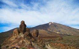 Vista del parco nazionale di Teide Fotografia Stock