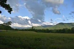 Vista del parco nazionale fumoso della montagna Immagini Stock Libere da Diritti