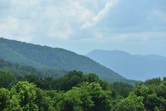 Vista del parco nazionale fumoso della montagna Fotografia Stock Libera da Diritti