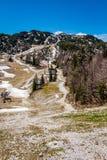 Vista del parco nazionale Slovenia di Triglav Immagini Stock Libere da Diritti
