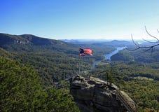 Vista del parco NC della roccia del camino Fotografie Stock Libere da Diritti