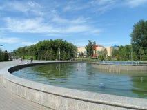 Vista del parco nella città immagine stock