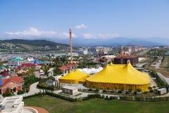 Vista del parque Adventureland de Sochi en Adler, Rusia Foto de archivo