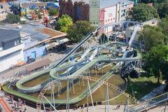 Vista del parque de atracciones de Prater viena fotos de archivo libres de regalías