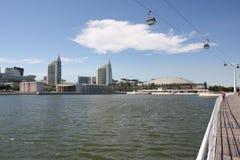 Vista del parque de las naciones en Lisboa Imagen de archivo
