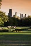 Vista del parque de Lincoln Fotografía de archivo