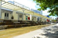 Vista del parque de Santorini, parques tem?ticos y parques de atracciones griegos interesantes en Tailandia imagen de archivo