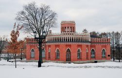 Vista del parque de Tsaritsyno en Moscú Foto de archivo libre de regalías