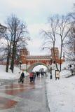 Vista del parque de Tsaritsyno en Moscú Fotos de archivo libres de regalías