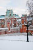 Vista del parque de Tsaritsyno en Moscú El museo del palacio Foto de archivo libre de regalías