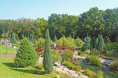 Vista del parque del edificio Imágenes de archivo libres de regalías