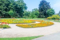 Vista del parque en Wejherowo, Polonia fotos de archivo libres de regalías