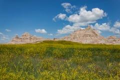 Vista del parque nacional de los Badlands de Dakota del Sur foto de archivo libre de regalías