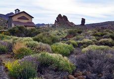 Vista del parque nacional de Teide en Tenerife, islas Canarias, España Imágenes de archivo libres de regalías
