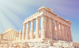 Vista del Partenone Fotografia Stock Libera da Diritti