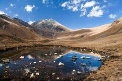 Vista del paso del la de Jang - Nepal occidental imágenes de archivo libres de regalías