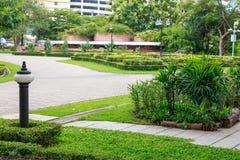 Vista del passaggio pedonale, giardino botanico Fotografia Stock Libera da Diritti