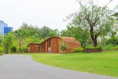 Vista del passaggio pedonale, giardino botanico Fotografia Stock