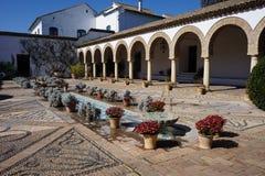 Vista del patio de columnas, Palacio Viana, Cordova, Spagna Fotografie Stock
