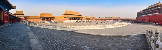 Vista del patio del palacio imperial en Pekín imagen de archivo libre de regalías