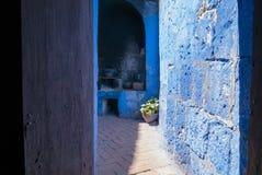 Vista del patio interno con el monasterio AR de Santa Catalina de la cocina fotos de archivo