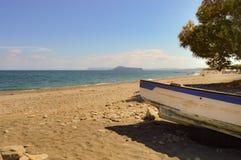 Vista del Pebble Beach de Maleme Foto de archivo