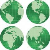 Vista del pianeta del globo della terra. royalty illustrazione gratis