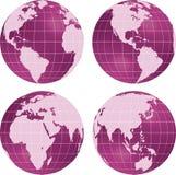 Vista del pianeta del globo della terra. illustrazione di stock