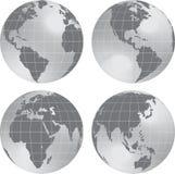 Vista del pianeta del globo della terra. illustrazione vettoriale