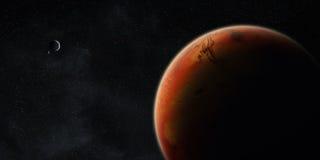Vista del pianeta Marte Fotografia Stock