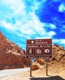 Vista del piatto nel deserto di Atacama, Cile immagini stock