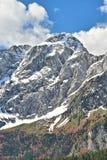 Vista del picco di Mangarts, Slovenia Fotografia Stock Libera da Diritti