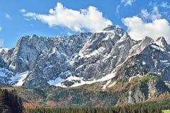 Vista del picco di Mangarts, Slovenia Immagine Stock Libera da Diritti