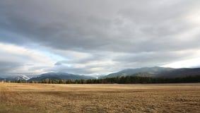 Vista del picco di montagna Immagine Stock Libera da Diritti