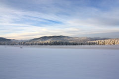 Vista del picco di Snowy immagini stock