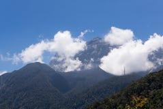 Vista del picco del Monte Kinabalu Fotografia Stock