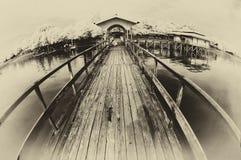 Vista del pilastro alla riviera Fotografia Stock