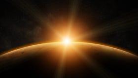 Vista del planeta Marte Imagen de archivo libre de regalías