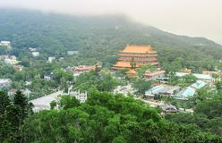 Vista del Po Lin Monastery Immagine Stock Libera da Diritti
