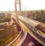 Vista del ponte Immagini Stock