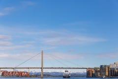 Vista del ponte Immagini Stock Libere da Diritti