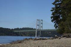 Vista del ponte degli stretti fotografia stock libera da diritti