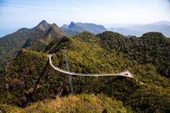 Vista del ponte del cielo di Langkawi da un'più alta posizione di vantaggio Fotografie Stock Libere da Diritti