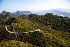 Vista del ponte del cielo di Langkawi da un'più alta posizione di vantaggio Immagini Stock Libere da Diritti