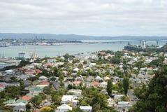 Vista del ponte del porto in Devonport, Nuova Zelanda Fotografia Stock