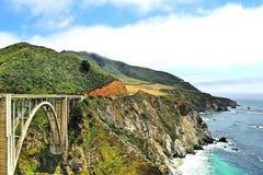 Vista del ponte di Bixby a Big Sur Immagine Stock Libera da Diritti